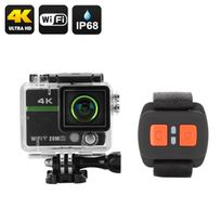 Shopinnov - Camera sports d'action Ultra Hd 4K Wifi 170° 20MP Telecommande App iOs et Android Etanche Ip68