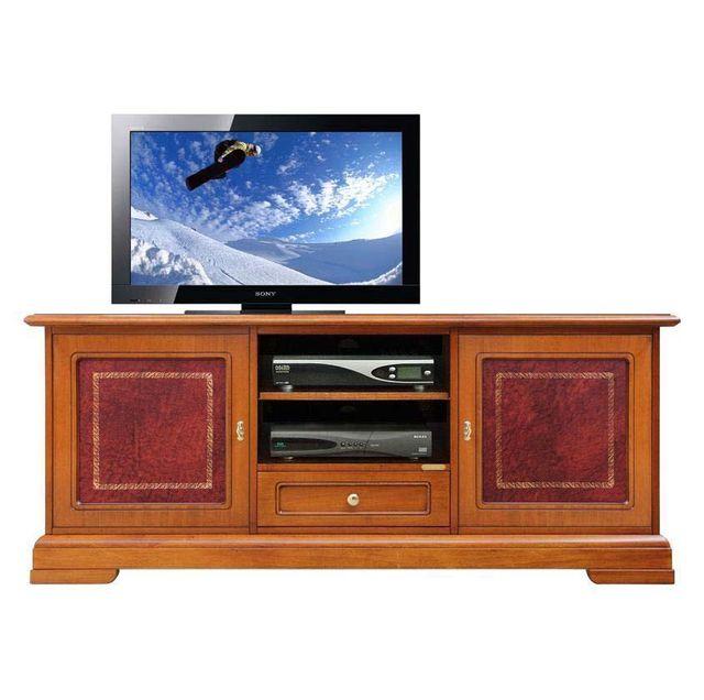 Arteferretto Meuble Tv détails en cuir 150 cm largeur