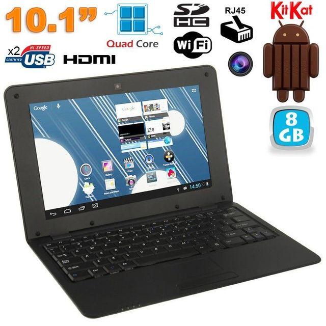 Yonis Mini Pc Android ultra portable netbook 10 pouces WiFi 8 Go Noir