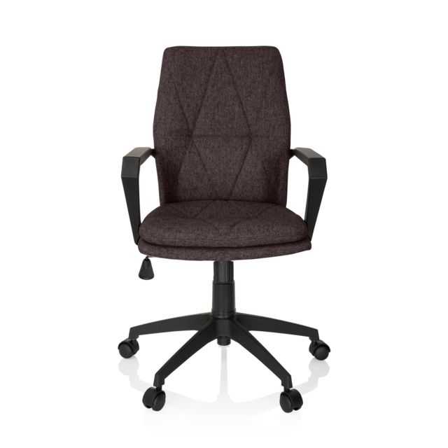 Hjh Office Chaise de bureau Siège pivotant Levio Tissu