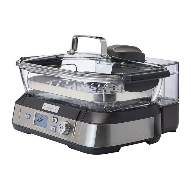 cuisinart cuiseur vapeur 5l 1800w inox stm1000e achat cuiseur vapeur. Black Bedroom Furniture Sets. Home Design Ideas