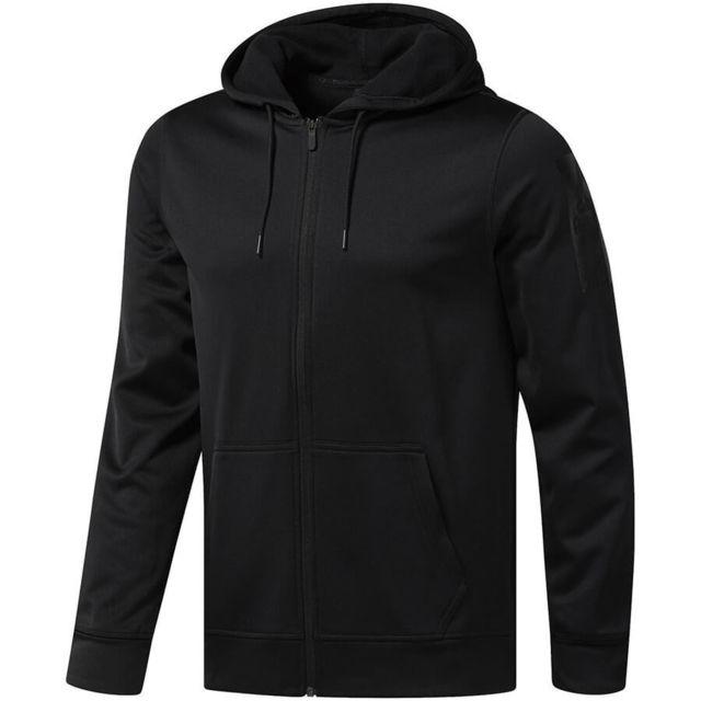 bce7a644d4346 Salomon - Sweatshirt à capuche zippé Reebok Workout Ready Thermowarm ...