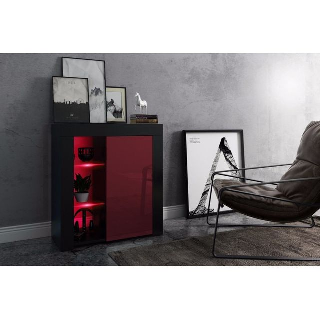 meuble tv led laqu. Black Bedroom Furniture Sets. Home Design Ideas