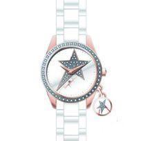 Thierry mugler - Montre cadran strass à pampille étoile acétate
