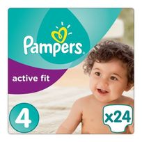 Pampers - Active Fit 24 Couches Taille 4 8-16 kg