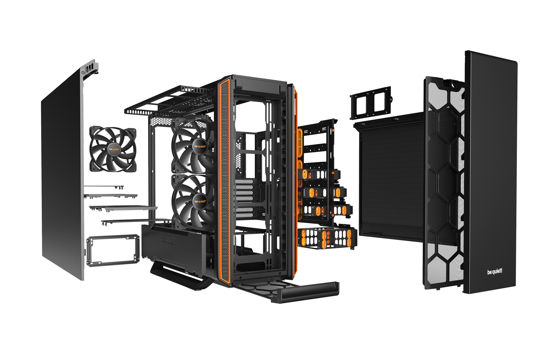 SILENT BASE 801 - E-ATX - Noir/Orange - Sans fenêtre