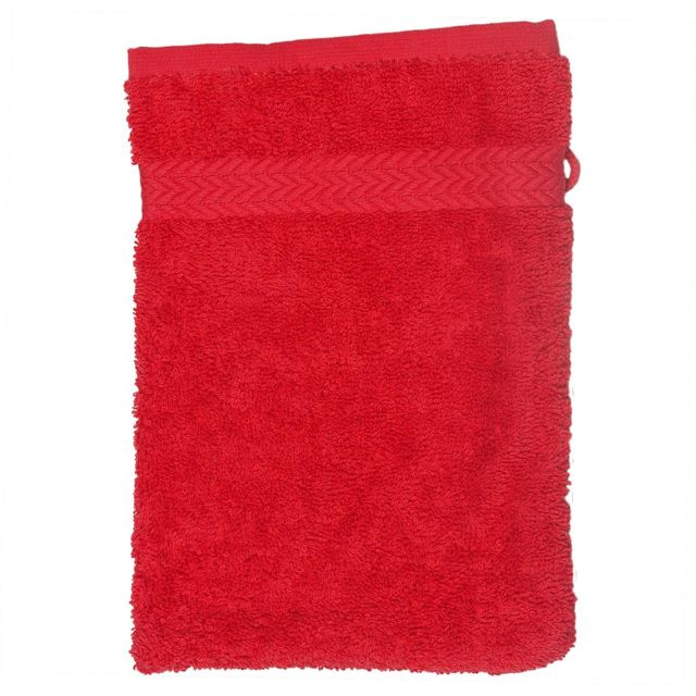 homemaison gant de toilette 16 x 22 cm en coton couleur. Black Bedroom Furniture Sets. Home Design Ideas