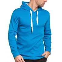 BLZ Jeans - Sweat-shirt homme bleu royal à capuche