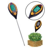 Wewoo - Ph-mètre orange 4 en 1 Ph Valeur + Température + Humidité + Testeur de Lumière du Soleil Instrument de Levé de Sols