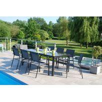 CREADOR - Ensemble table extensible + 8 fauteuils
