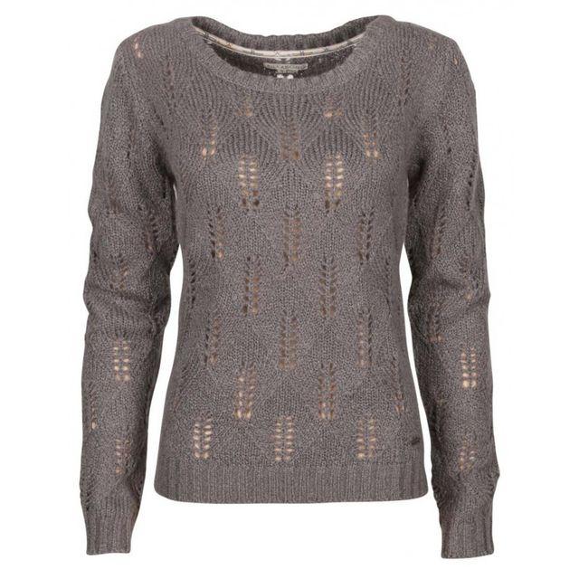 86c5f810453f Billabong - Pull Aroa - Dark Athletic Grey - pas cher Achat   Vente Pulls  femme - RueDuCommerce