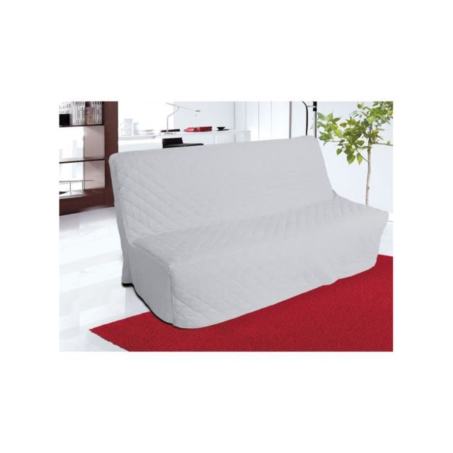 soleil d 39 ocre housse de clic clac matelass e panama gris clair pas cher achat vente. Black Bedroom Furniture Sets. Home Design Ideas