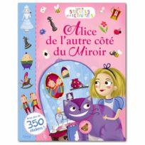 Editions Auzou - Livre de stickers et d'activités : Alice de l'autre côté du miroir
