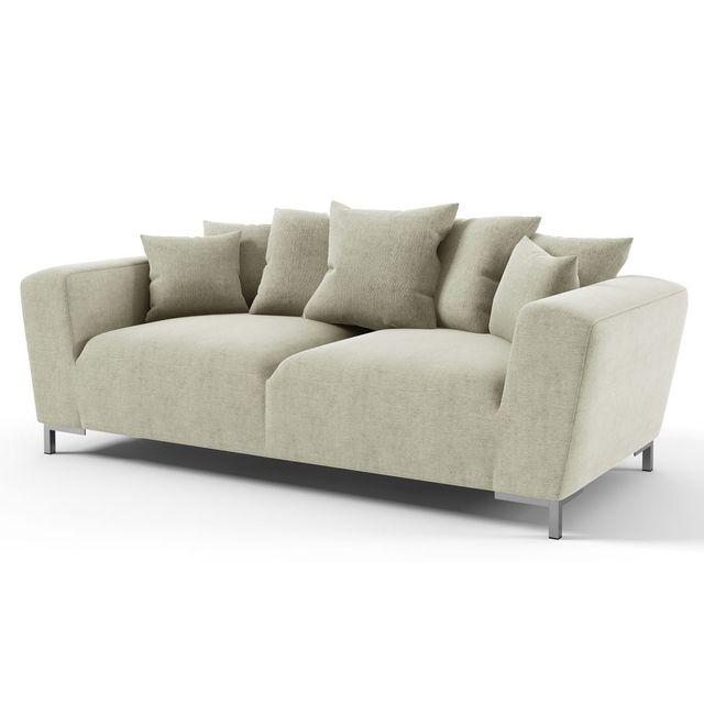 habitat et jardin canap fixe tissu alto 3 places gris achat vente canap s pas chers. Black Bedroom Furniture Sets. Home Design Ideas