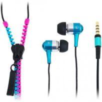 LogiLink - Ecouteurs stéréo intra-auriculaire Zipper rose-bleu HS0024
