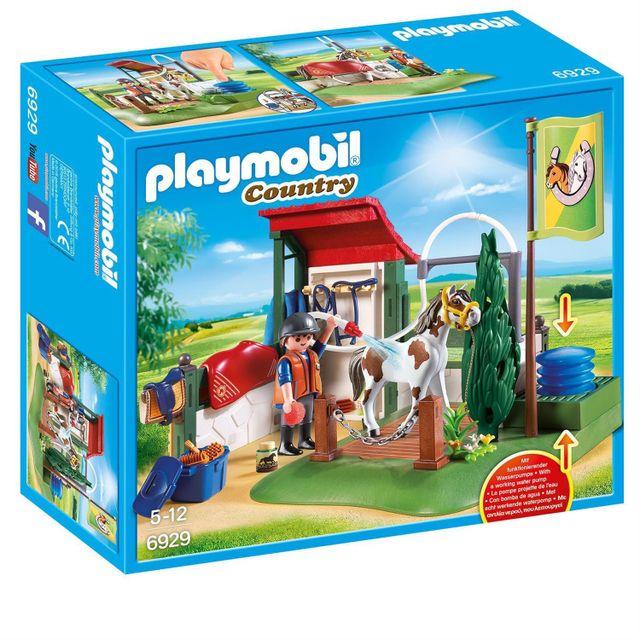 Playmobil 6929 country box de lavage pour chevaux pas cher achat vente playmobil - Douche pour chevaux playmobil ...