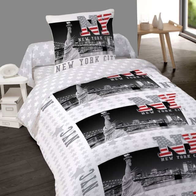 housse couette new york 200x200 - achat housse couette new york