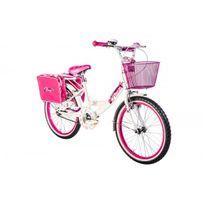 Autre - Vélo fille Roses 20 blanc et fuchsia