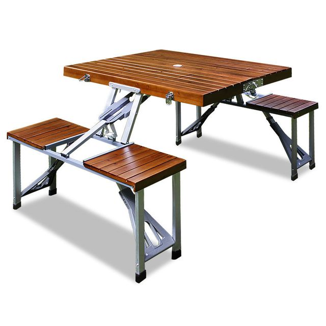rocambolesk superbe table de pique nique pliante neuf. Black Bedroom Furniture Sets. Home Design Ideas