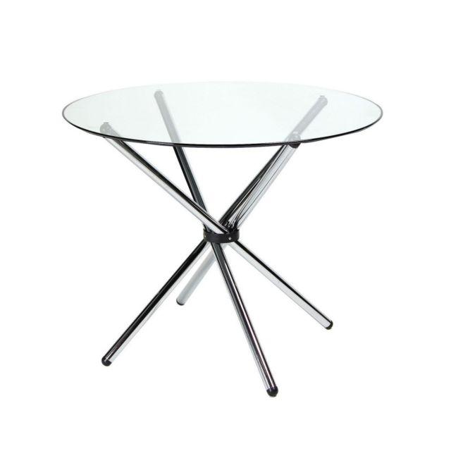 Novara Mobili Table de verre Hélix Clear