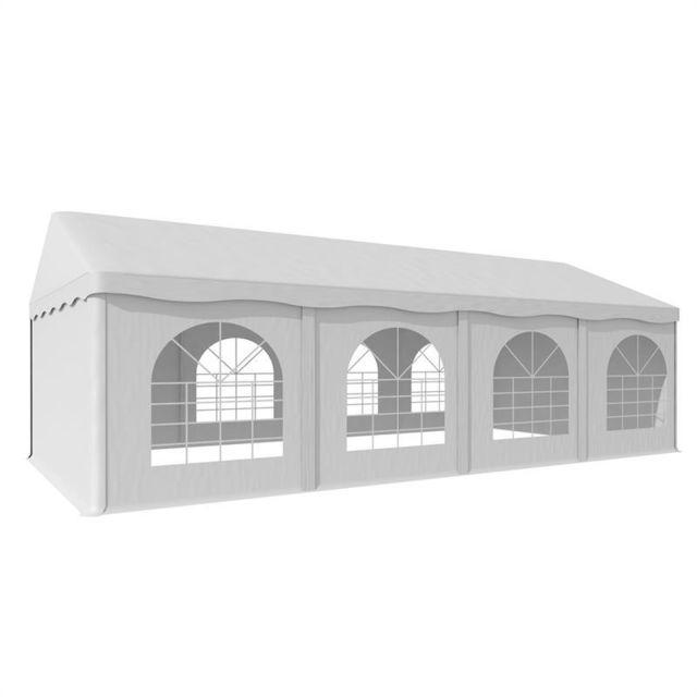 BLUMFELDT Sommerfest 4x8m 500 g/m² Chapiteau tente PVC étanche galvanisé