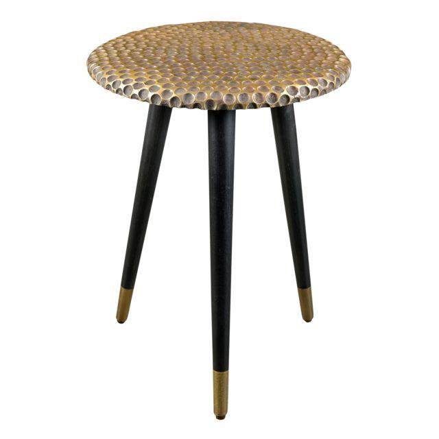 Rendez Vous Deco Table basse ronde Sheila laiton