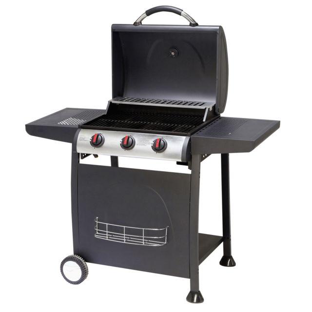 CARREFOUR - DETROIT - Barbecue gaz - 3 brûleurs - 1193-08