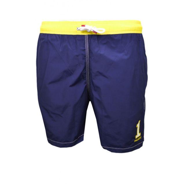 Hackett Short de bain One bleu marine et jaune pour homme