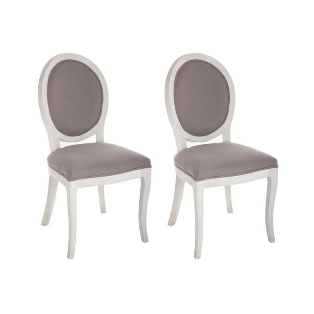 2 Lot chaises Cléon de médaillon 53jLAR4