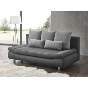 rocambolesk canap roma sofa divan gris 205cm x 80cm x 97cm achat vente canap s pas chers. Black Bedroom Furniture Sets. Home Design Ideas