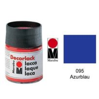 Marabu - decorlack Acryl : À Base D'EAU Acrylique Craft Paint 50ML Pot Azure Bleu 113005095
