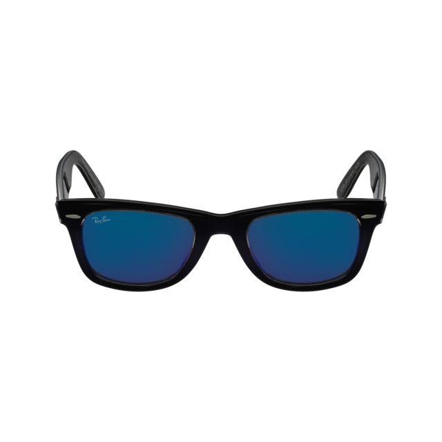 Ray-Ban - Ray Ban - Wayfarer Rb2140 1203 68 Bleu - Noir - Lunettes de soleil  - pas cher Achat   Vente Lunettes Tendance - RueDuCommerce e51386c46743