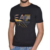 Armani - Ea7 Emporio - Tee Shirt Mc - Homme - 6xpt90 Geometric - Noir