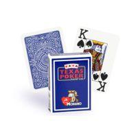 Modiano - Cartes Texas Poker 100% plastique bleu