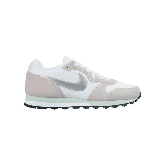 rencontrer 81d8a 5c69f Nike - Chaussure Md Runner 2 blanc beige argenté femme ...
