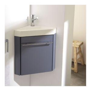 planetebain lave mains dangle complet avec meuble couleur gris souris mitigeur
