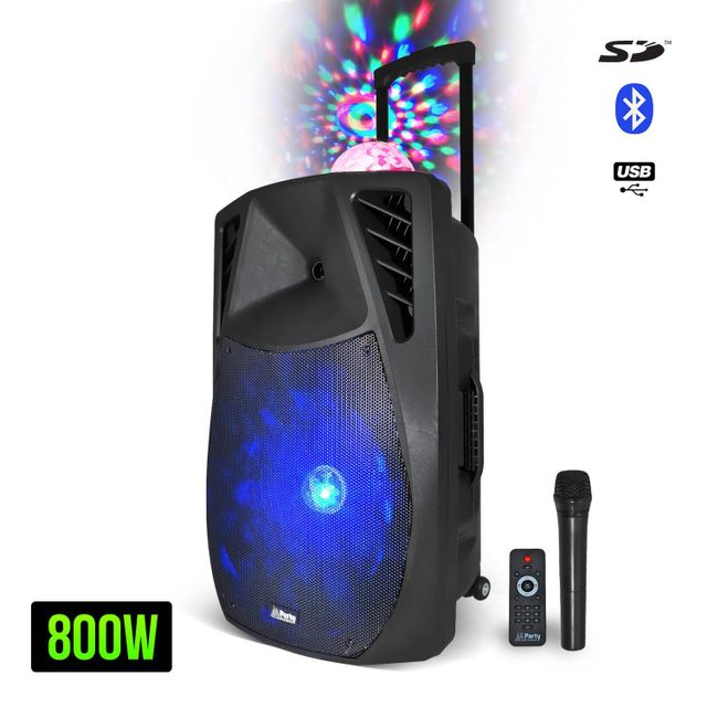 Party Sound Enceinte à Leds Rvb + Dôme Astro portable 15