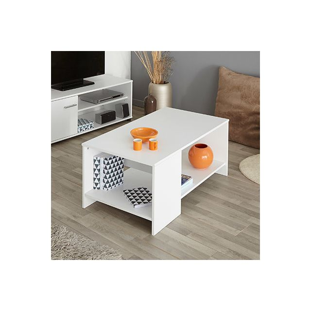 Table basse L98xH41xP54cm - blanc