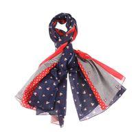 Armor-lux - Chèche Armor Lux bleu marine, rouge et blanc à motifs voiliers