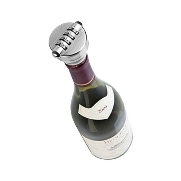 Totalcadeau Cadenas bouchon de bouteille sécurisé à code vin