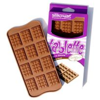 Silikomart - Moule Silicone 12 Chocolats - Mini Tablettes