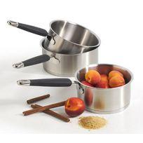 Lacor - série de 3 casseroles inox 16/18/20cm - 94002