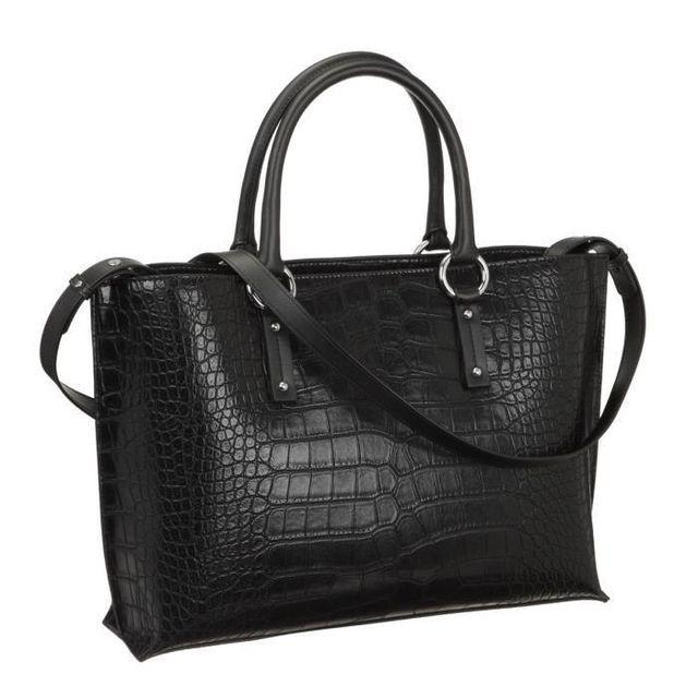 baef935b40f7 Armani - Jeans Sac a Main 922158-6A711 Noir Femme - pas cher Achat   Vente  Sacs à main - RueDuCommerce