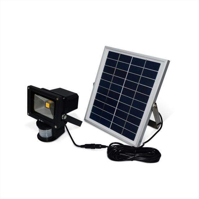 eclairage led solaire ALICEu0027S GARDEN - Projecteur solaire LED 5W puissant - 550 lumens, batterie  lithium 4000mAh,