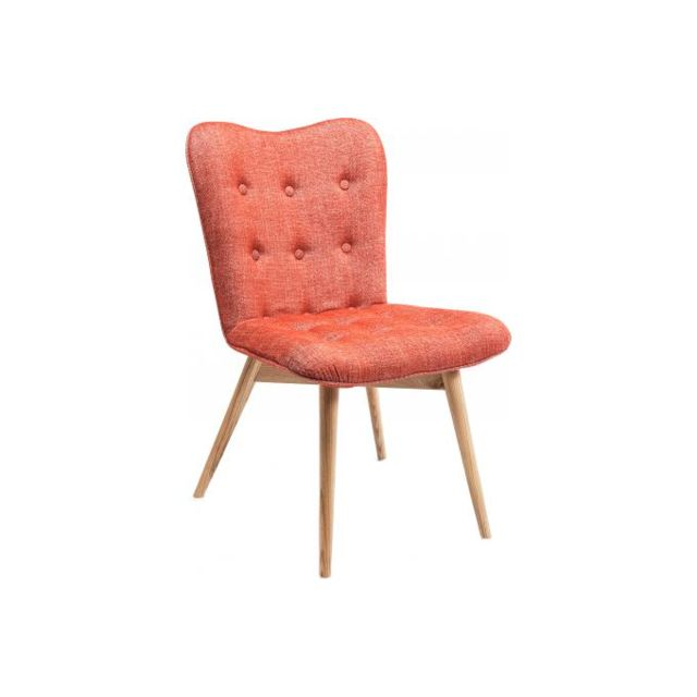 Chaise retro hêtre rouge