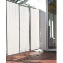pegane paravent extrieur intrieur gris clair avec 3 panneaux 170 x 70 cm