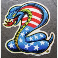 Universel - Sticker cobra drapeau americain etat unis autocollant gauche
