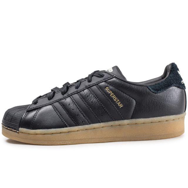 chaussures adidas superstar femme noires
