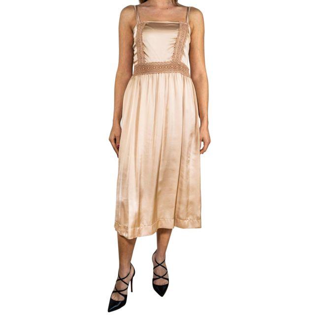 Dixie Femme Adm4IAT0013 Beige Polyester Robe