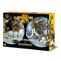 Geoworld - Kit d'excavation Homme de Neandertal et Mammouth